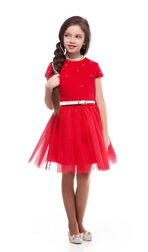 Платье с жемчугом 098-1