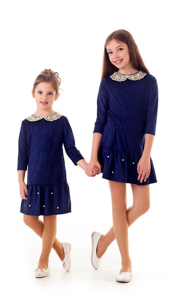 Платье 1211-1 детское из мягкого замша