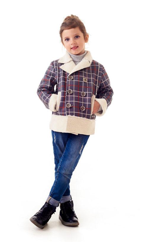 Кардиган 1211-5 на меховой подкладке детский
