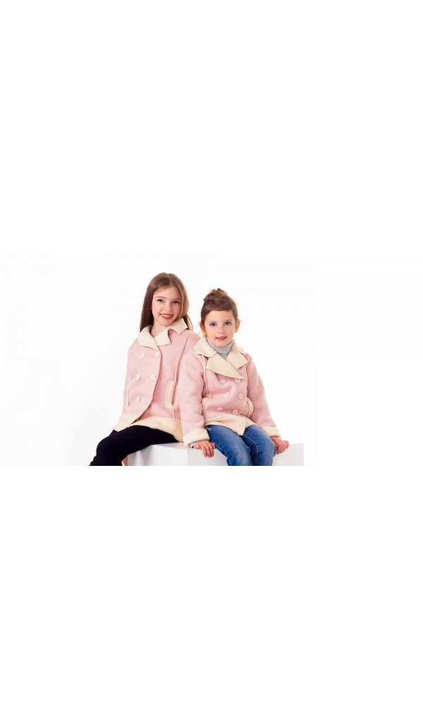 Дубленочка двубортная 1211-10 детская